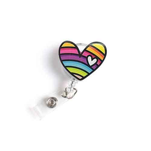 Acrylic Retractable Nurse Badge Reel /name Tag Id Badge Holder Clip