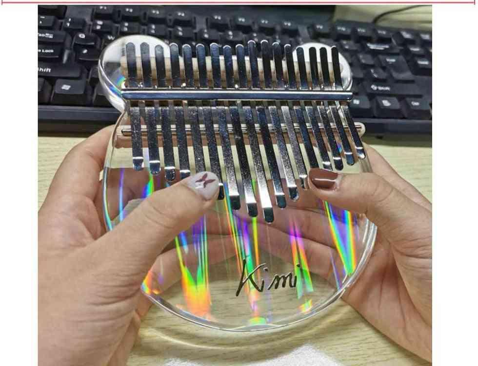 Transparent Musical Keyboard Instrument Thumb Piano