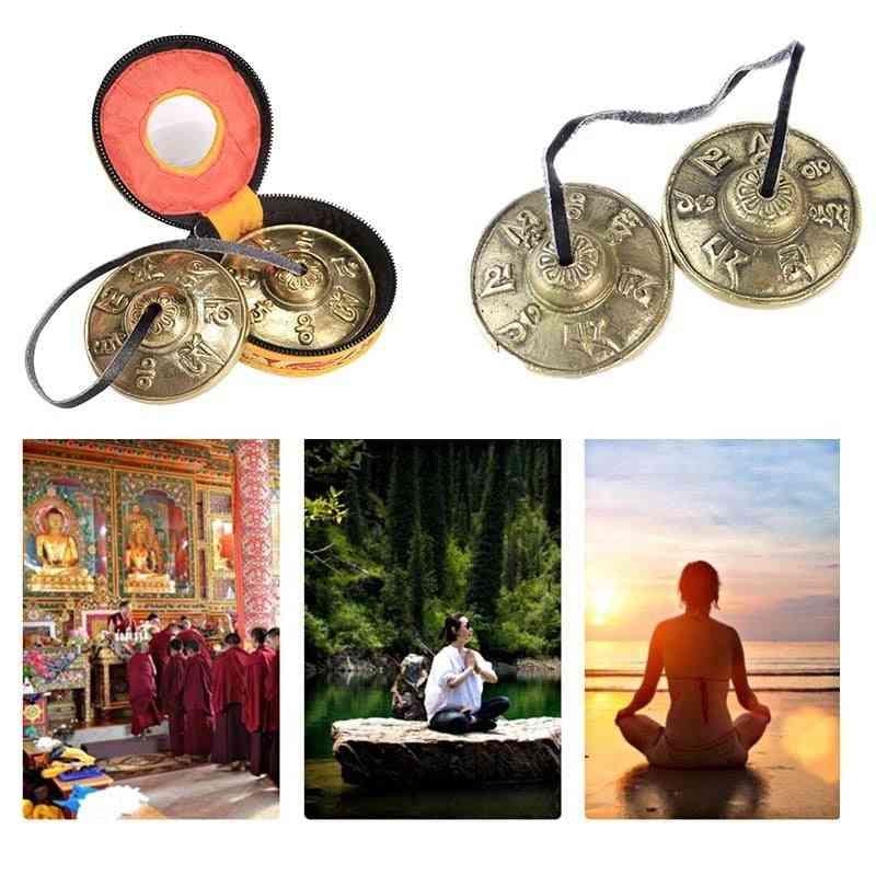 1 Pair Yoga Cymbals Brass