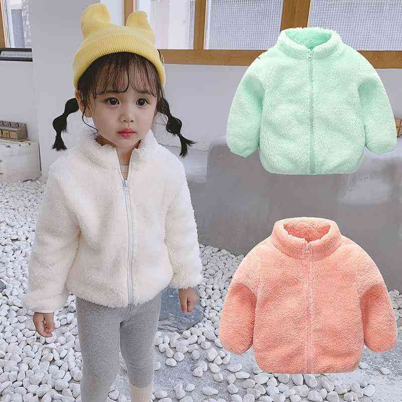 Baby Winter Kids Clothes, Long Sleeve Zipper Coat