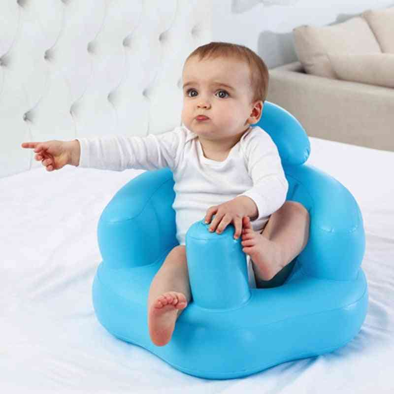 Baby Inflatable Bath Chair, Pvc Sofa Shower Stool