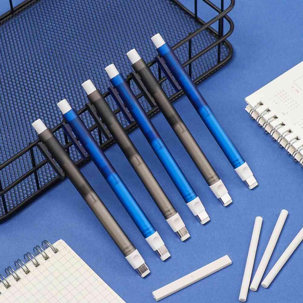 Pen-shaped Drawing Eraser Push Erasers Set Rubber