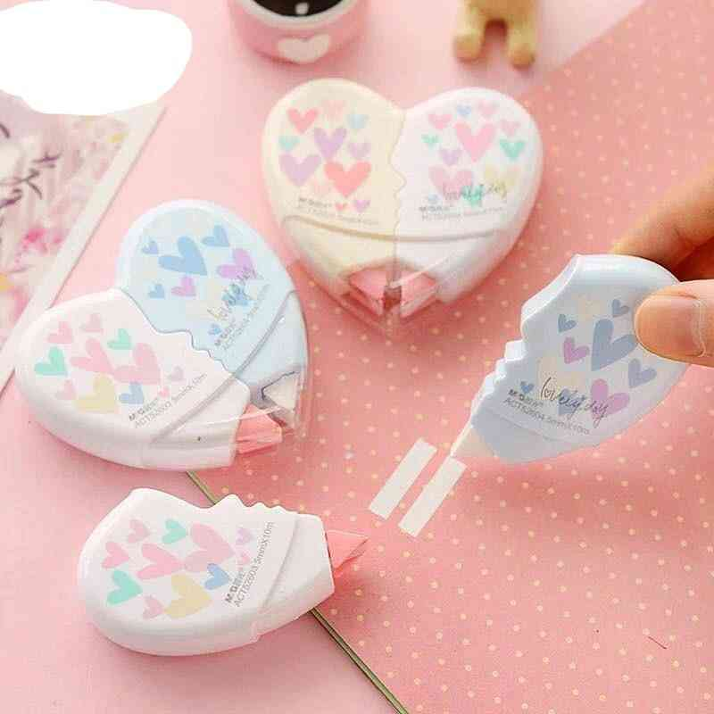 Cute Love Heart Cat Claw Correction Tape Material