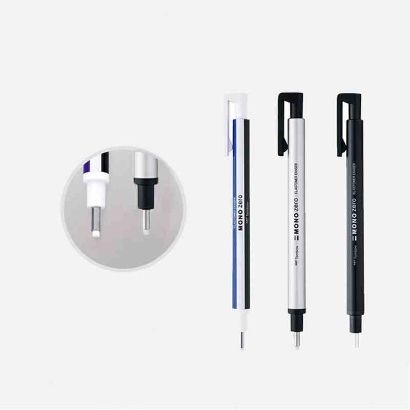Round Tip Eraser Refill Pack Ultrafine Pencil Rubber
