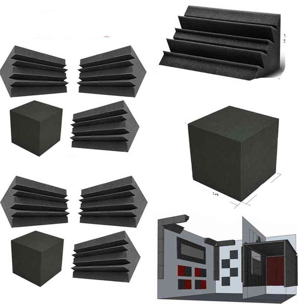 Column Wedge Studio Accessories, Bass Trap Acoustic Foam Corner Block Finish Corner Wall