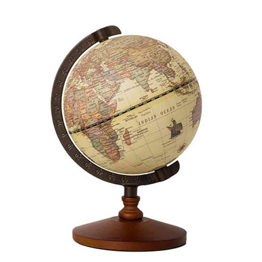 22cm World Globe Earth Map In English