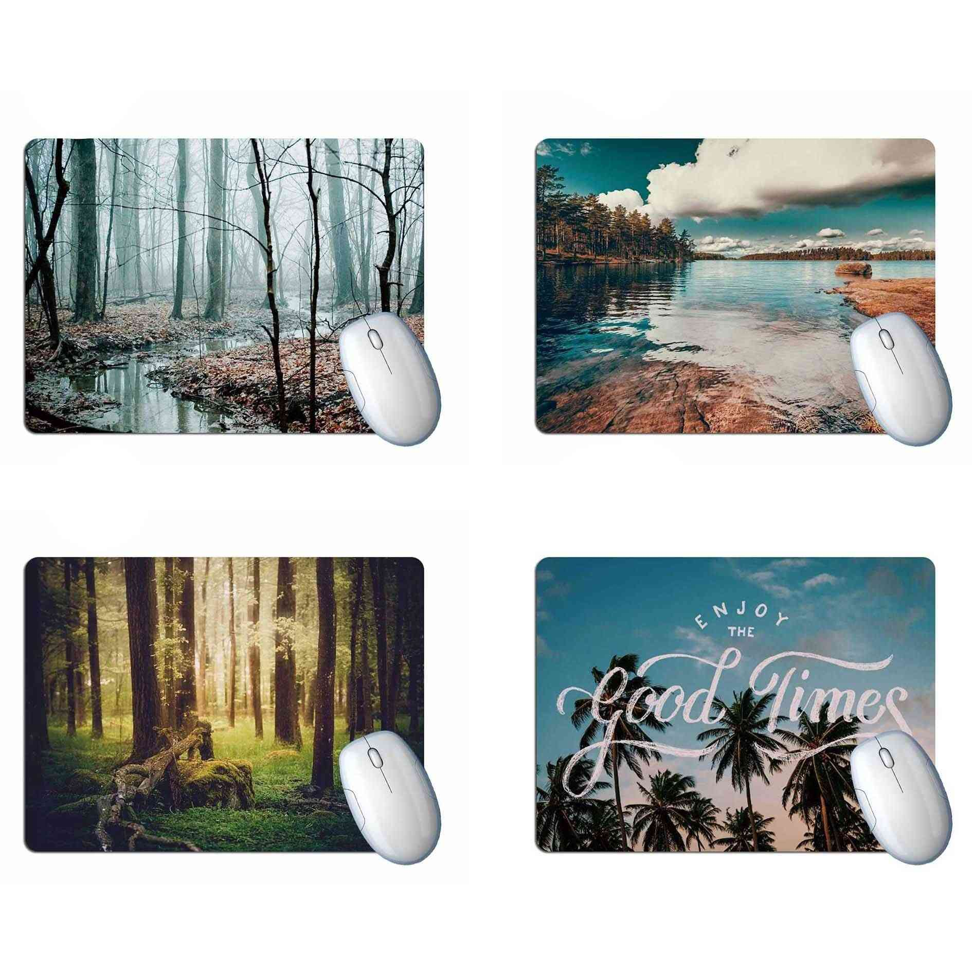 Forest Lake Scenery Mouse Pad Computer