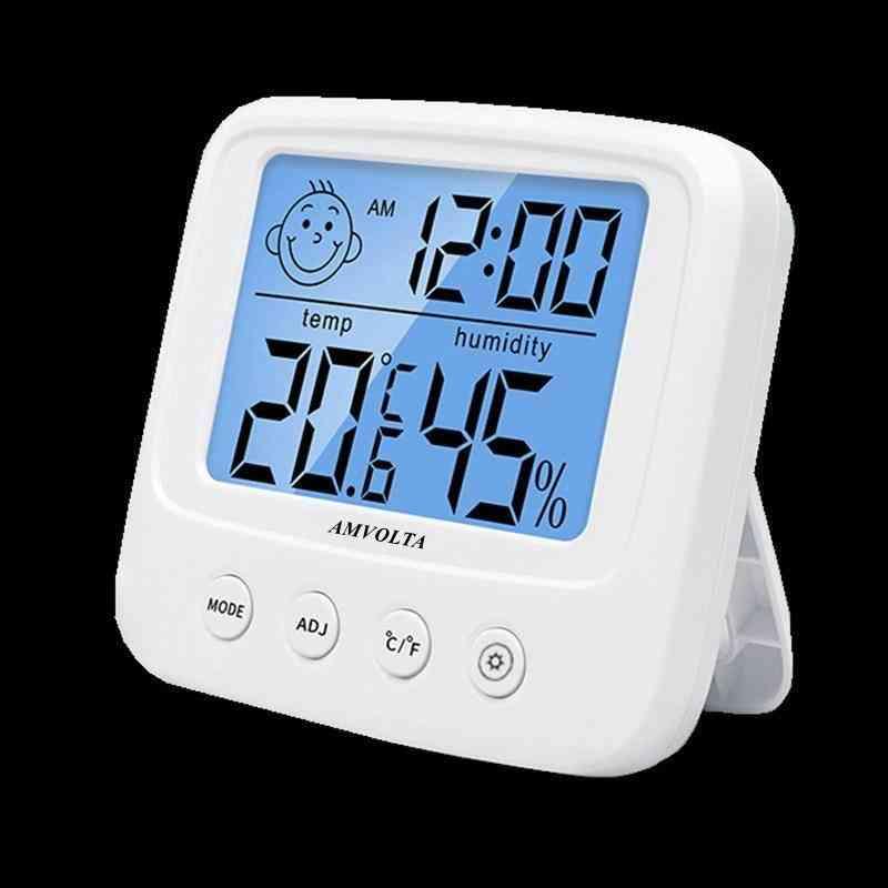 Amvolta Lcd Digital Temperature Humidity Meter Backlight Home Indoor Electronic Hygrometer