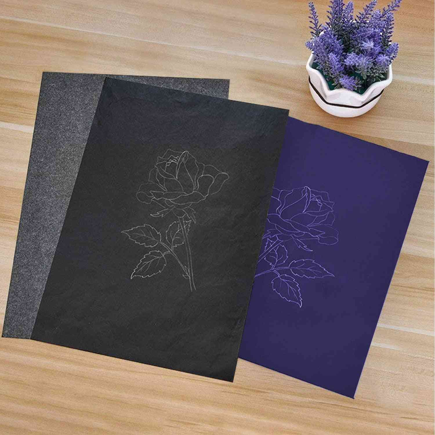 A4 Size Reusable Carbon Tracing Transfer Paper For Office School Home Canvas Wood Glass Metal Ceramic