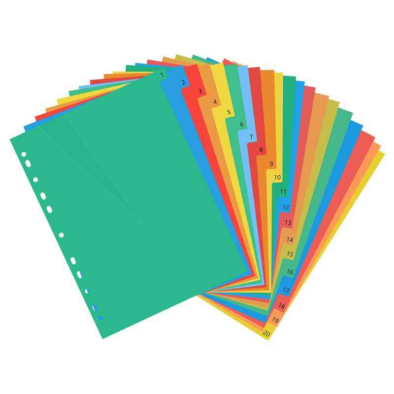 Classified Lables Plastic Tab Divider