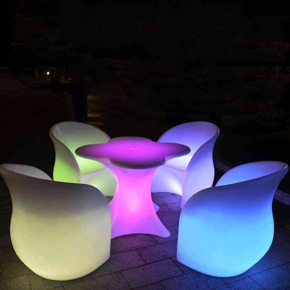 New Cherry Blossom Shape Rechargeable Led Luminous Cocktail Table