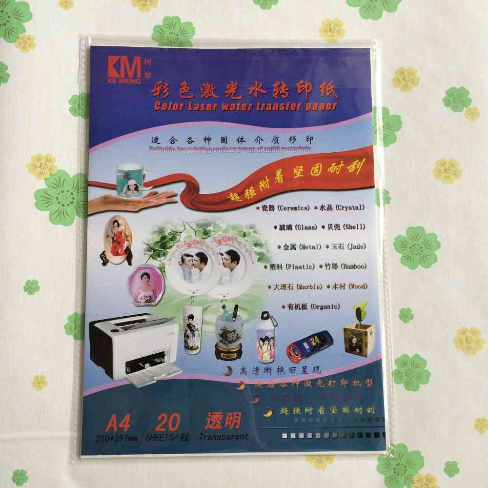 Transparent Decal Laser A4 Water Transfer Paper Used With Laser Printer