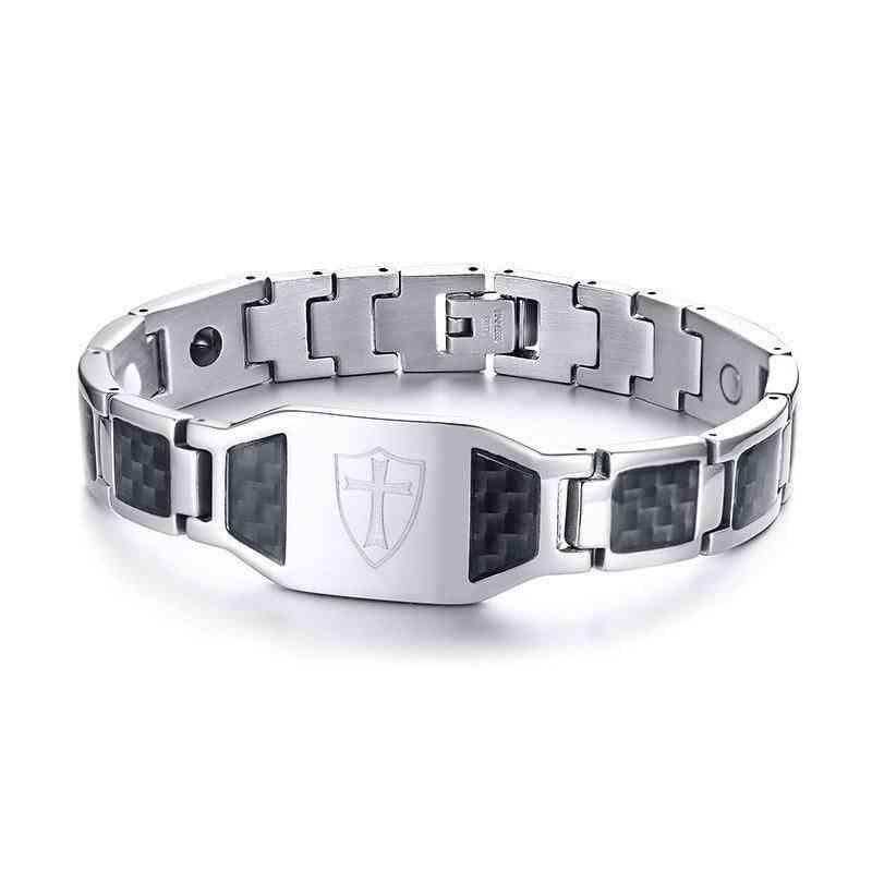 Module Carbon Fiber Magnetic Bracelet For Men