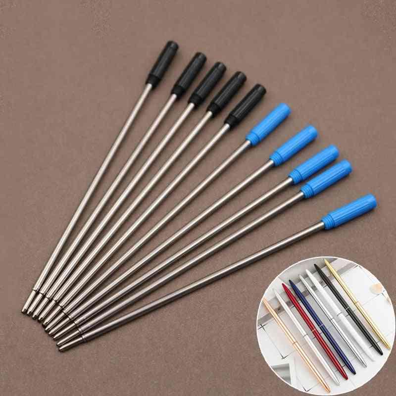 Rotating Metal- Ballpoint Pen Refill, Rod Cartridge, Core Ink