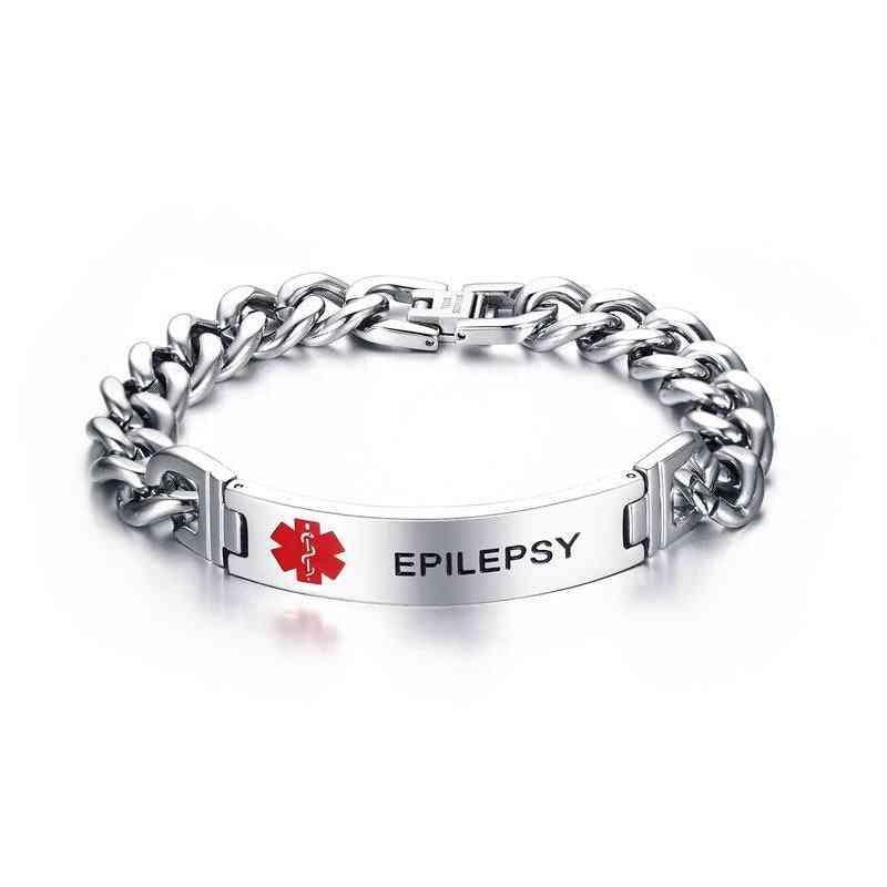 Vnox Epilepsy Medical Braceletfor Men