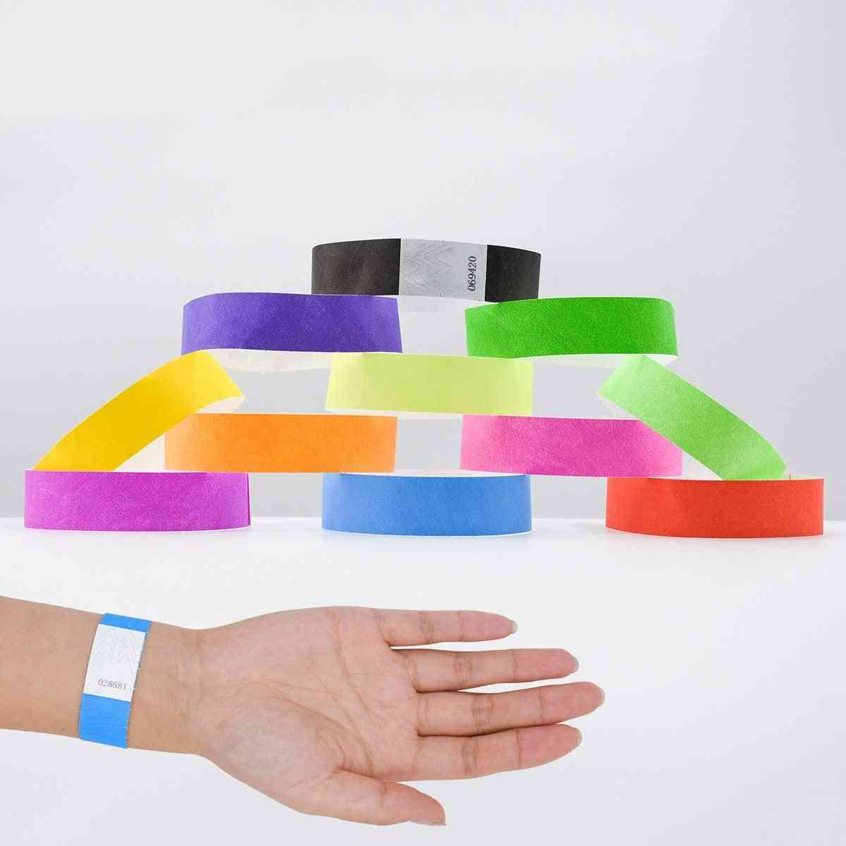 100pcs Wristbands Synthetic Paper Bracelet For Event And Party