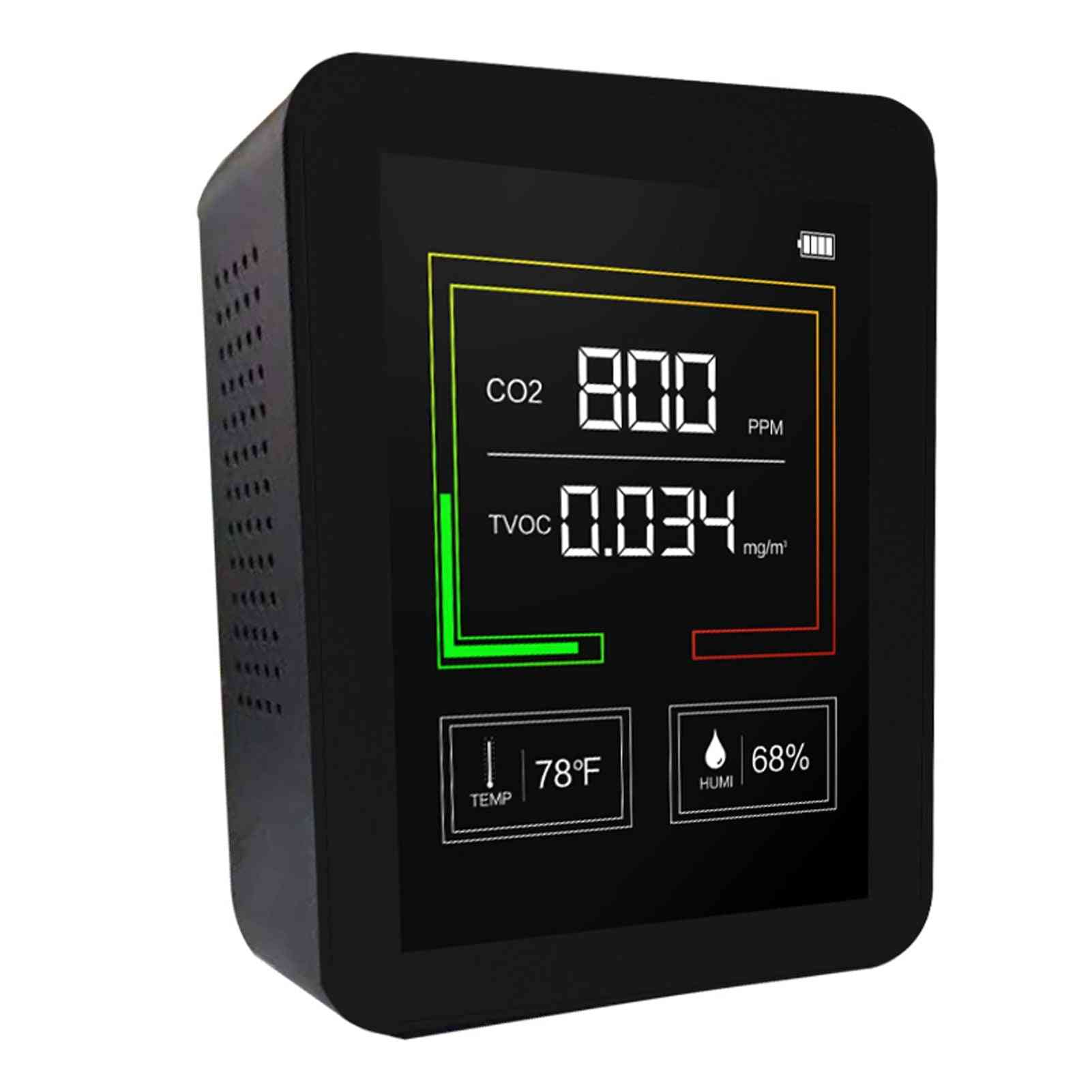 Usb Rechargeable Co2 Meter Air Quality Monitor