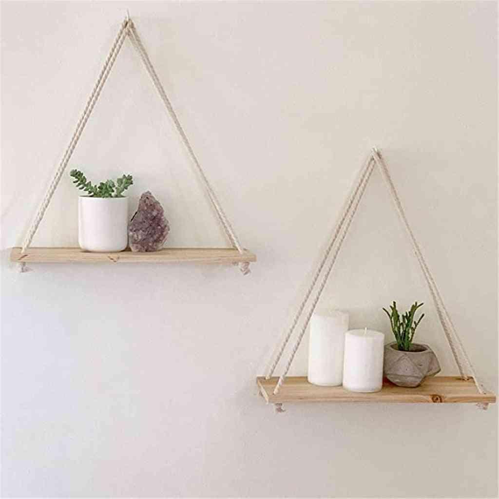 Premium Wood Swing Hanging Rope Wall