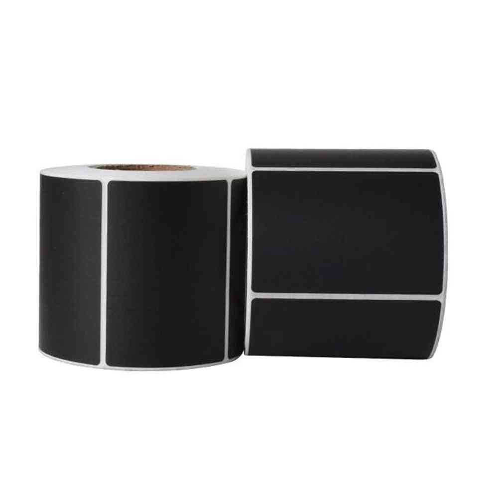 Plastic Stickers Black Synthetic Label Rolls
