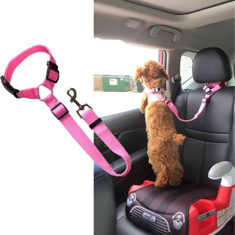 Dog Car Safety Belt, Lead Leash Harness For Small Dogs