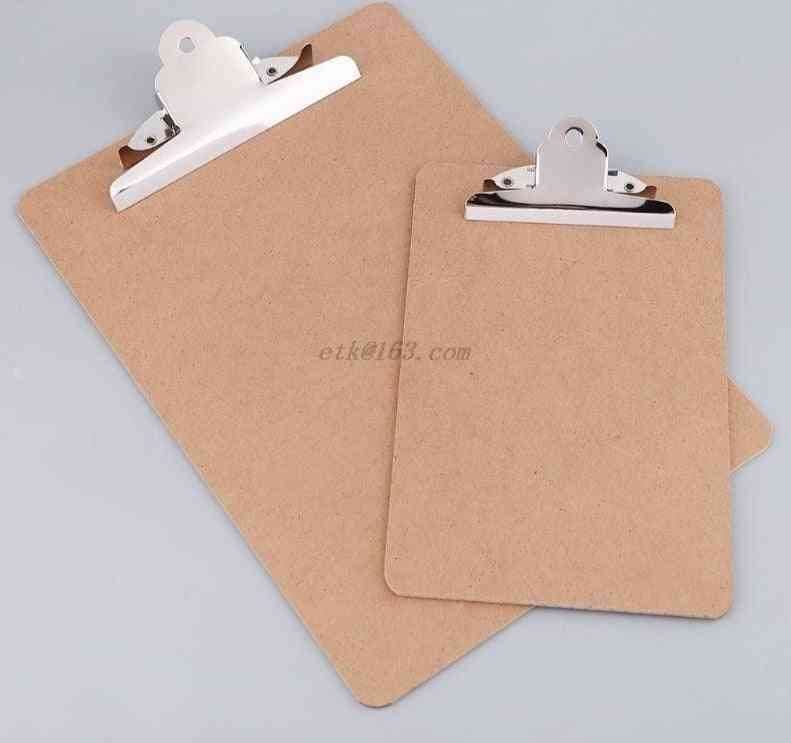 Portable A4/a5 Wooden Writing Clipboard File