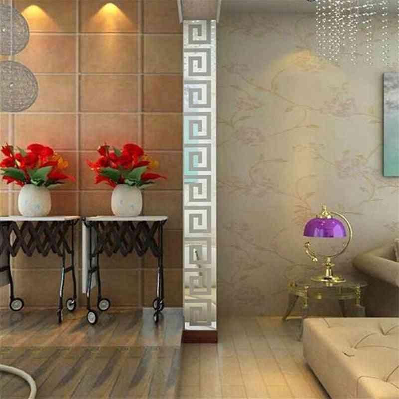 Diy Acrylic Wall Sticker For Home Room Bedroom Decoration Modern Maze Mirror Wall Sticker