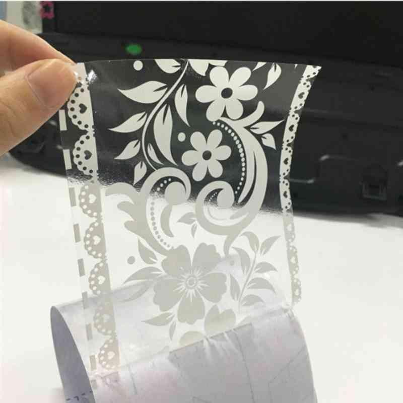 Lace Pattern Wallpaper Border Sticker Pretty Waist Line Waterproof Self Adhesive Pvc Home Decoration
