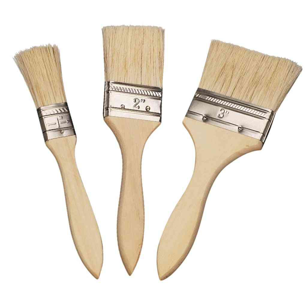 Wooden Handle Paint Brush Barbecue Waterproof Utensil Basting Bbq Accessories Kitchen Tool