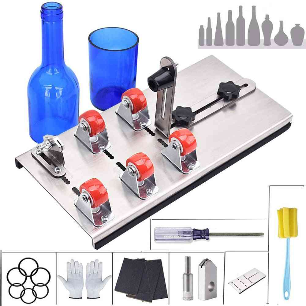 Diy Glass Bottle Cutter, Adjustable Sizes, Metal Cut Machine For Crafting, Wine Bottles, Household Cutting Tool