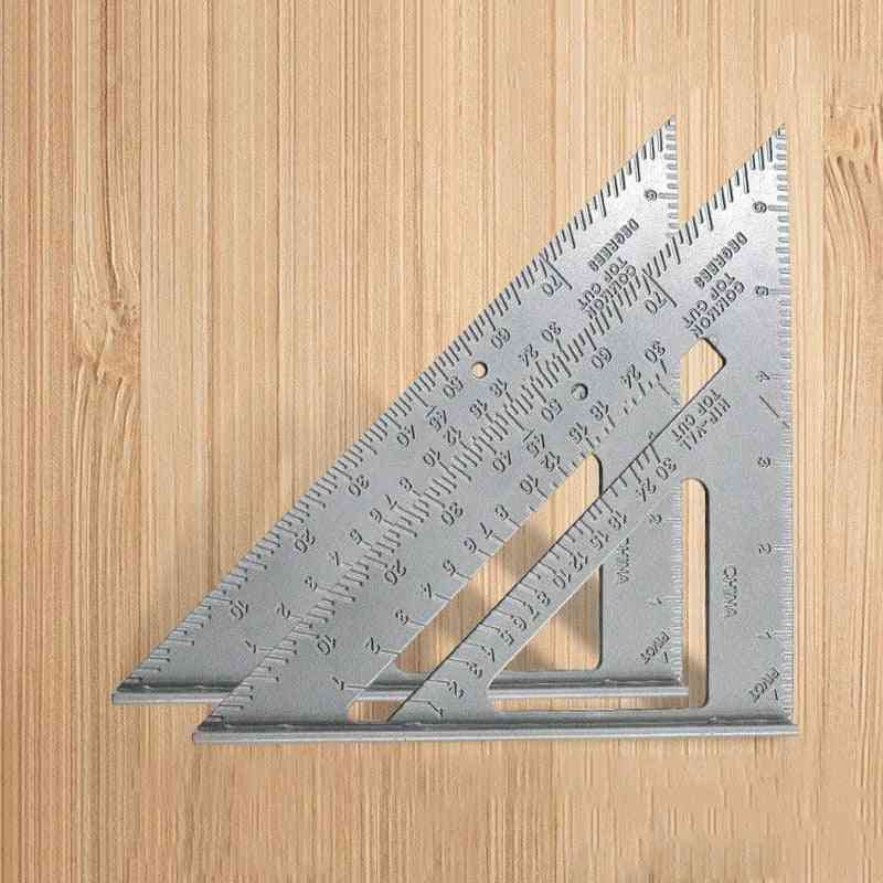 7 Inch- Measuring Ruler Speed, Square Roofing, Triangle Angle, Protractor Tools