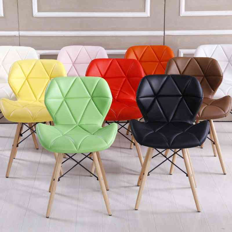 Bright Color Ergonomic Wooden Leisure Dinning Chair