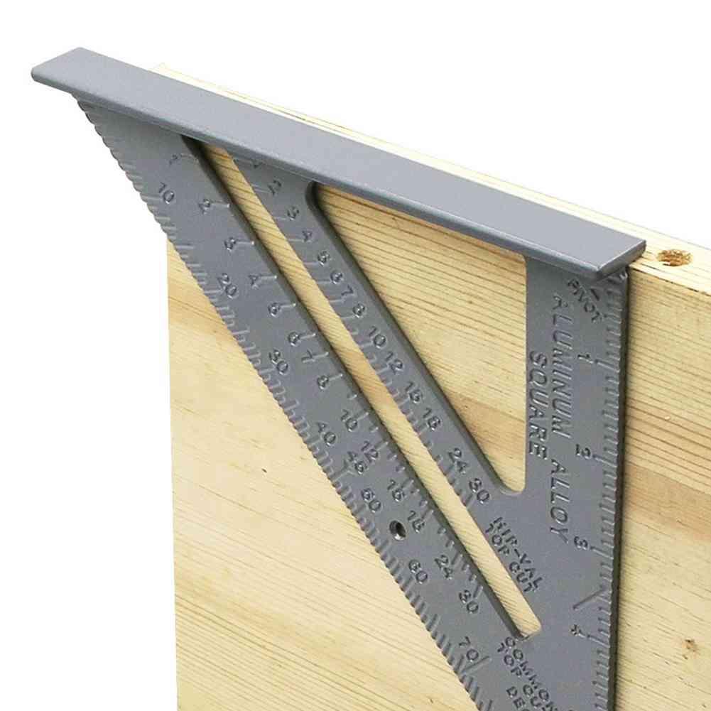 Aluminum Alloy Carpenter Measurement Square Ruler