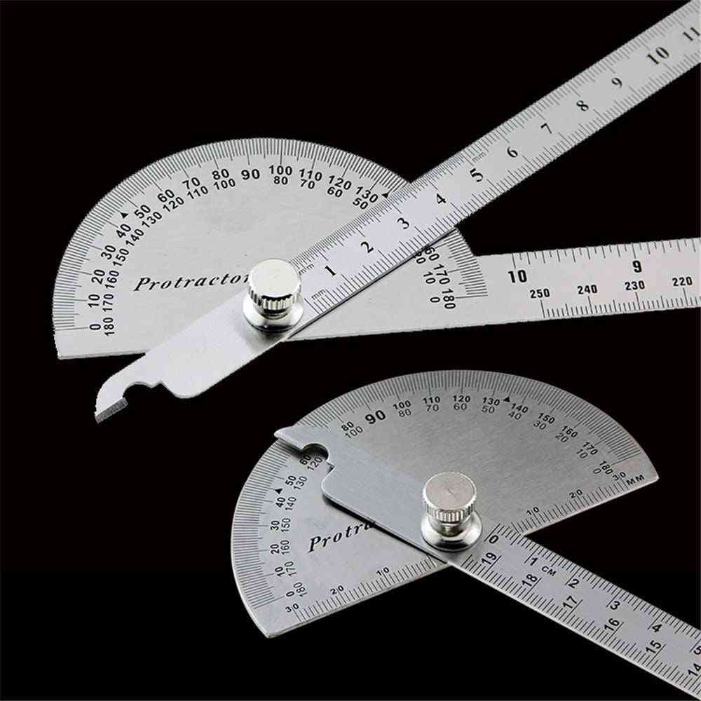 Stainless Steel Protractor Round Head Rotary Angle Rule