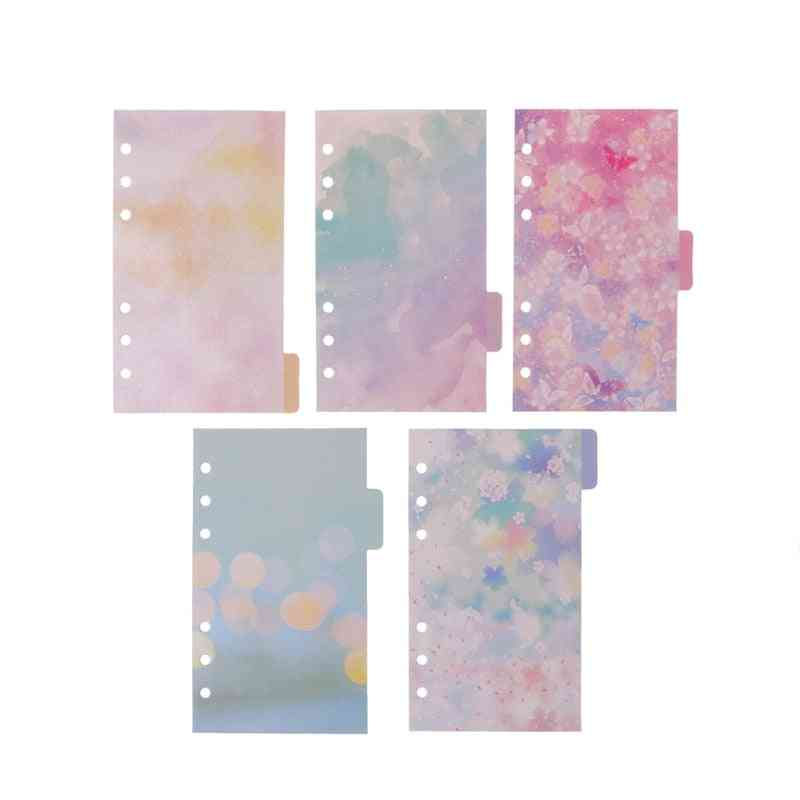 Flower Dividers For Dokibook Notebook Planner A6 Inner Page