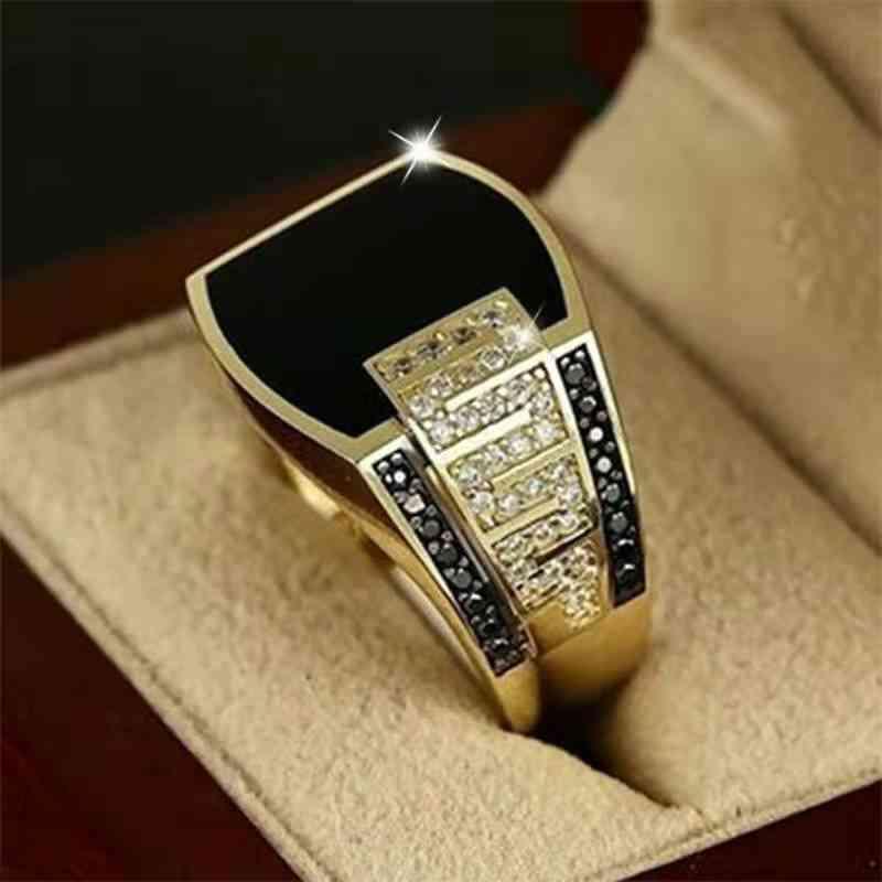 Hip Hop Ring For Men, Punk Style, Zircon Party Motor Biker Rings, Jewelry