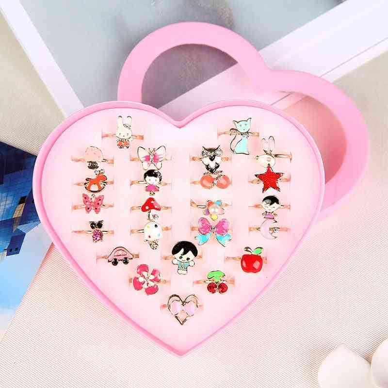Love Kids Cute Sweet Rings Design, Flower Animal Jewelry Accessories, Girl Child, Finger Chic