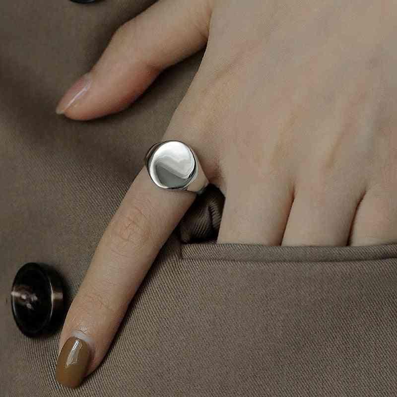 Irregular Round Circle Geometric Ring, Open Finger Rings, Men