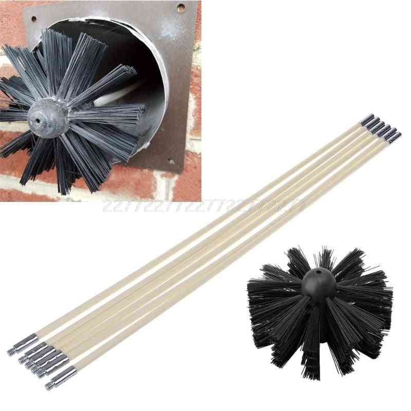 Nylon Brush With Long Handle Flexible Pipe Rods For Chimney Kettle House Cleaner