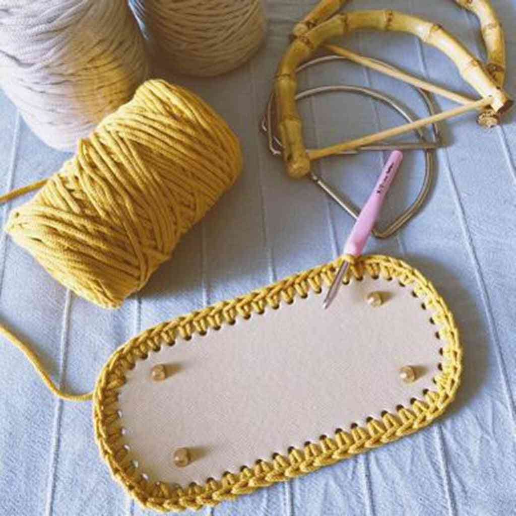 Diy Bags Bottom Mat Pad, Pre-drilled Knitting Crochet Insert Base