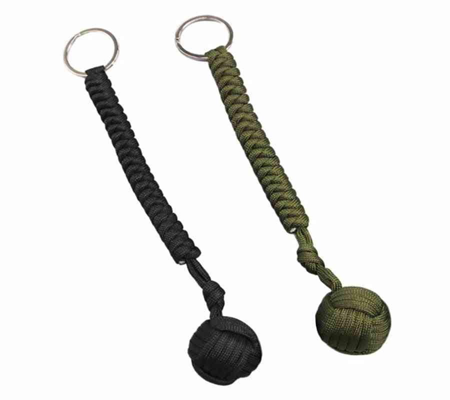 Steel Ball Designed For Women And Kids Self Defense Lanyard Survival Key Chain