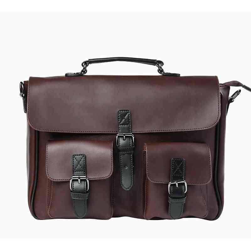Men Leather Bag, Men's Laptop Briefcase Bag