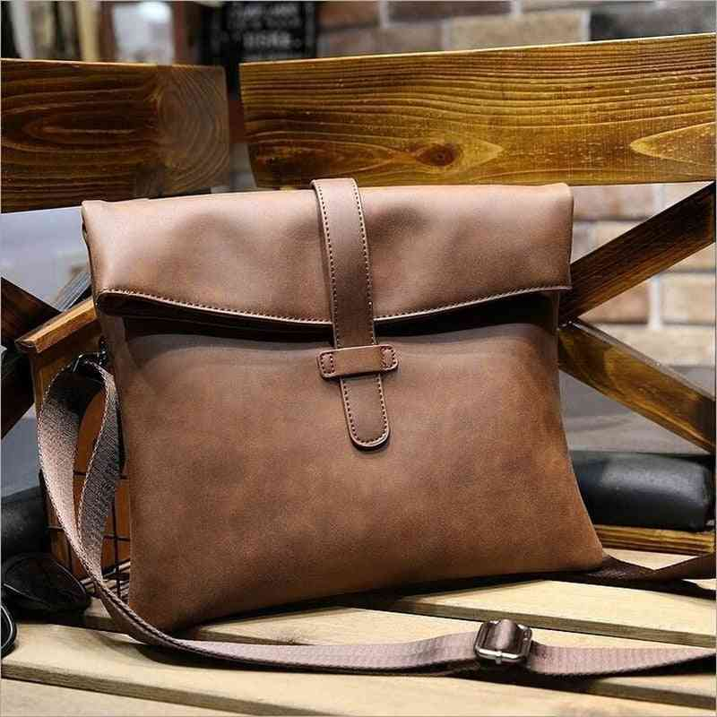 Crazy Horse Leather Ipad Bags, Men's Briefcase