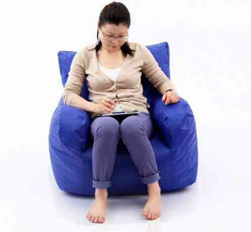 Original Beanbag Armchair Sofa Cushion With Arm Rest. Waterproof And Dirt Proof