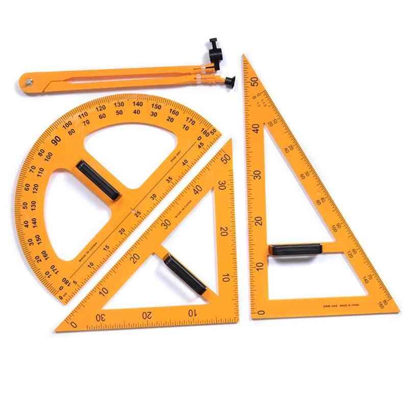 Multifunction Teaching Ruler Set