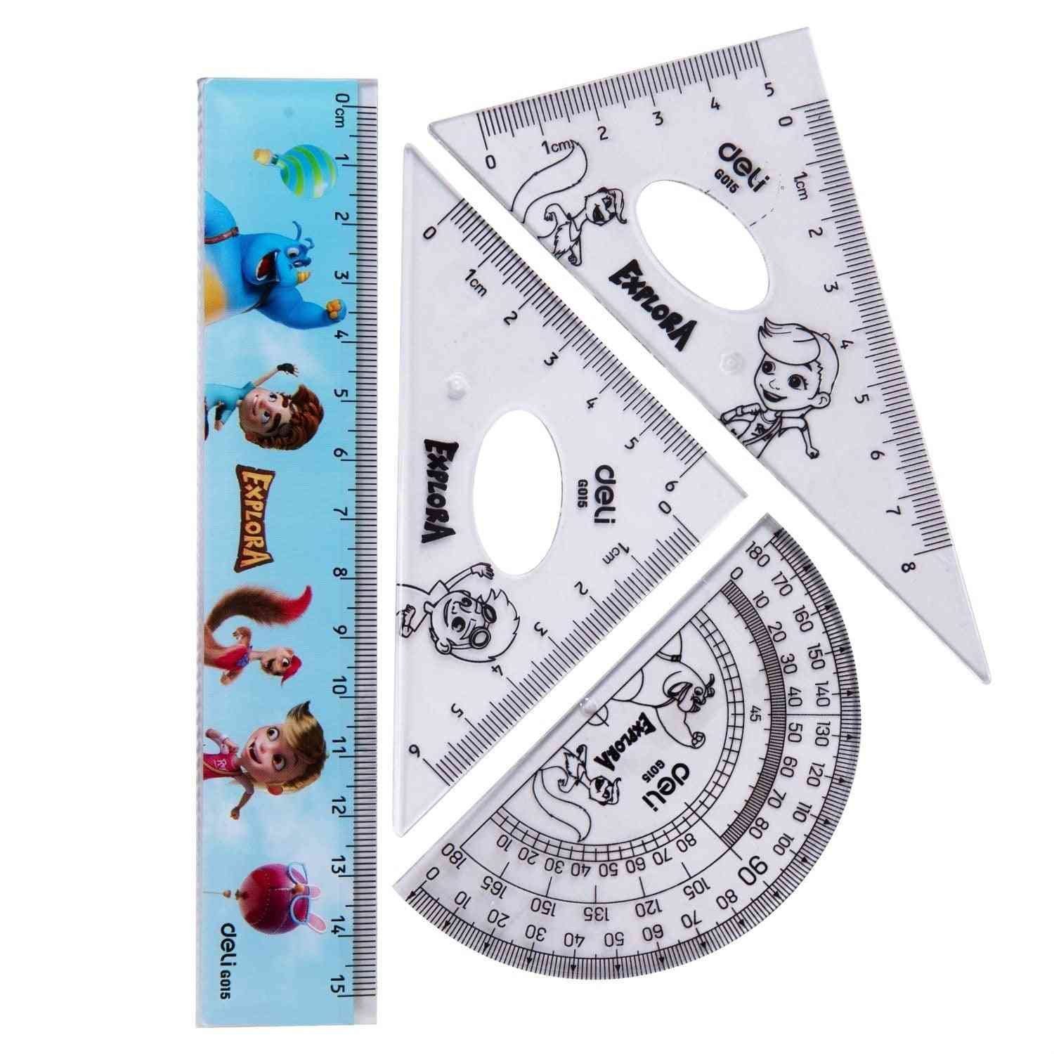 Ruler Set Squares Protractor Compass
