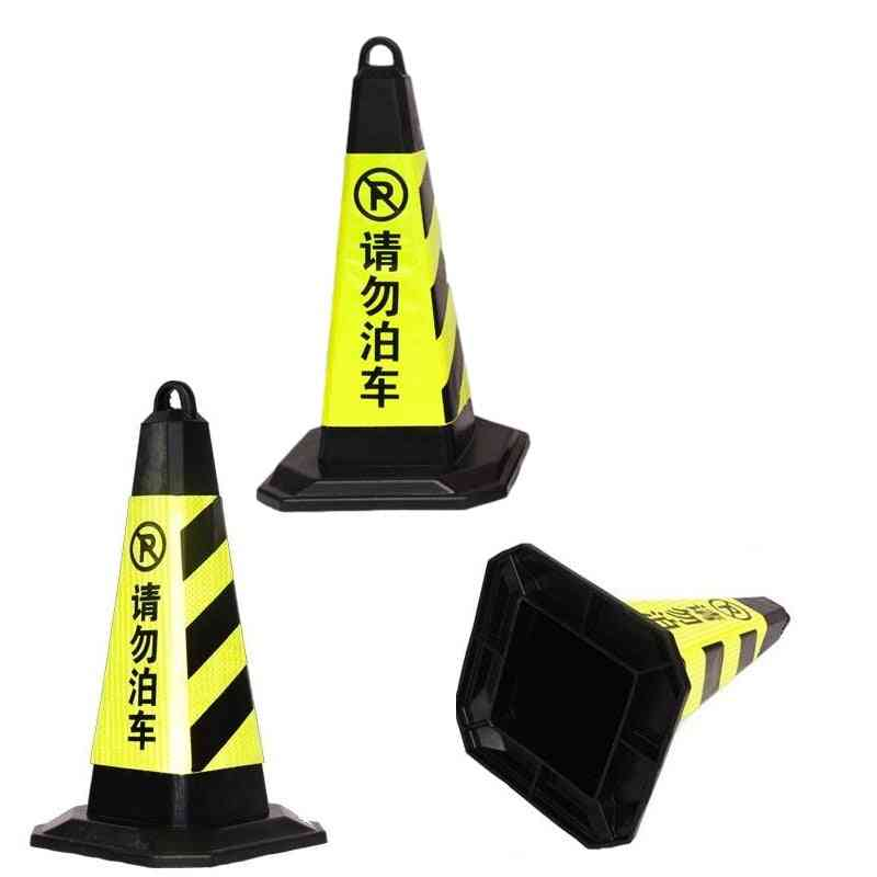 Safety Square Cones Warning Rubber Road Sign