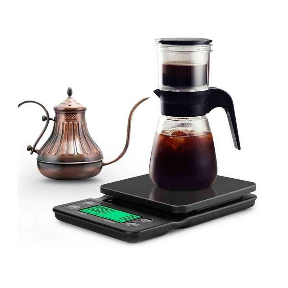 Coffee Scale With Timer, Portable, And Electronic Digital