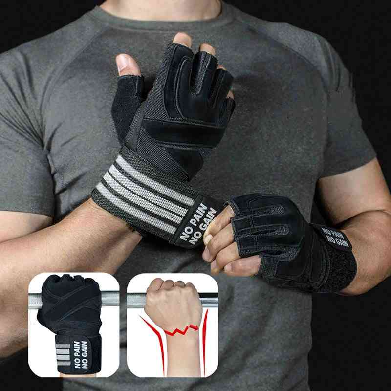 Weightlifting Gloves With Wrist Support For Heavy Exercise, Body Building Gym Training, Fitness Handschuhe Workout Crossfit Glove