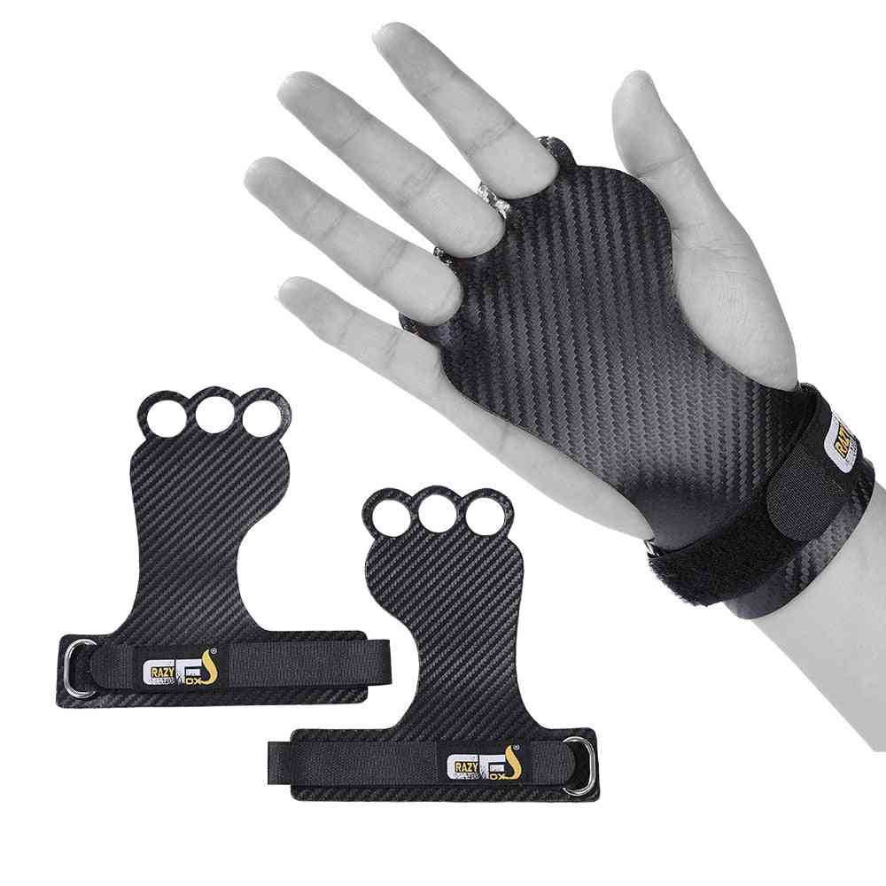 Carbon Gymnastics Hand Grips For Weight Lifting, Crossfit, Pullups Workout, Palm Protector, Gym Grip Gloves
