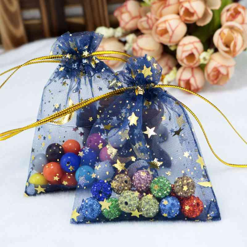 Star Drawstring Bag Pouches